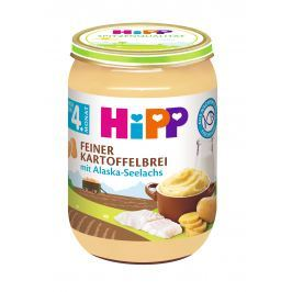HiPP Jemná zemiaková kaša s aljašskú treskou, 6x190g