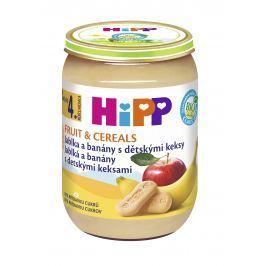 HiPP BIO Jablká a banány s detskými keksami 6x 190g