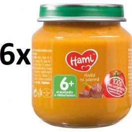 Hami Príkrm mrkva, zemiaky, hovädzie, 6x125g