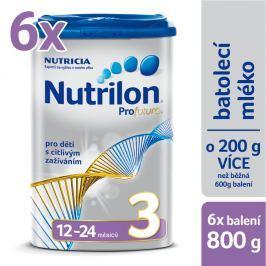 Nutrilon dojčenské mlieko Profutura 3, 6x800g