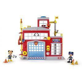 Mikro hračky Mickey Mouse hasičská stanica + 2 figúrky