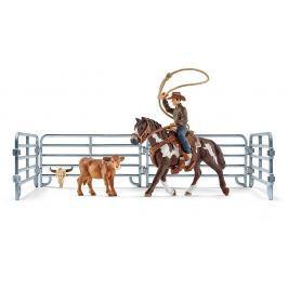 Schleich Kovboj s lasom na koni a príslušenstvo 41418