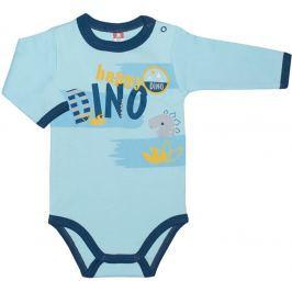 2be3 Chlapčenské body DINO - modré
