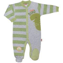 2be3 Chlapčenský overal DINO - zeleno-šedý