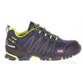 Trollkids Chlapčenská outdoorová obuv Trolltunga Hiker Low - modro-žltá