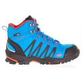 Trollkids Chlapčenská outdoorová obuv Trolltunga Hiker Mid - svetlo modrá