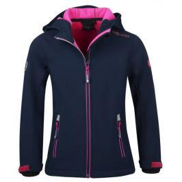 Trollkids Dievčenská softshellová bunda Trollfjordu - modro-ružová