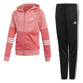 adidas Dievčenská tepláková súprava - ružovo-čierna
