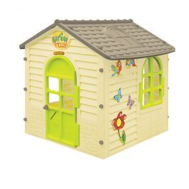 MOCHTOYS Záhradný domček malý s kvietkami