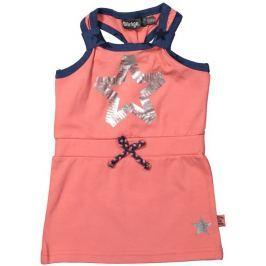 Dirkje Dievčenské šaty na ramienka - oranžové