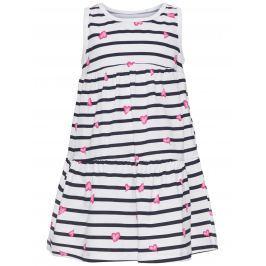 Name it Dievčenské šaty so srdiečkami - biele