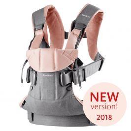 Babybjörn Ergonomický nosič One 2018 Grey / Powder pink cotton