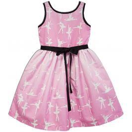 Joe and Ella Dievčenské šaty Ballerina - ružové