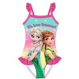 E plus M Dievčenské plavky Frozen - ružové