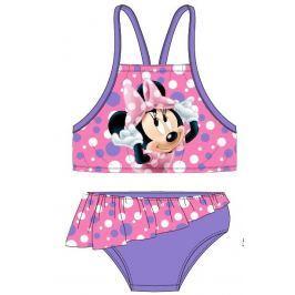 E plus M Dievčenské dvojdielne plavky Minnie - fialové