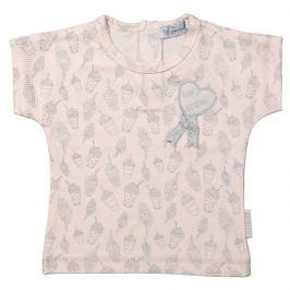 Dirkje Dievčenské tričko s potlačou - svetlo ružové