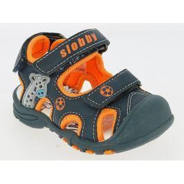 V+J Chlapčenské sandále so žirafou - modré