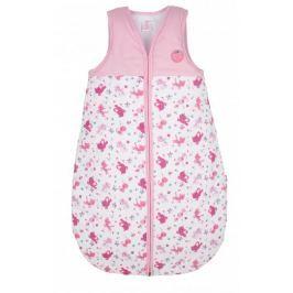 G-mini Dievčenský spací vak Mačička - ružovo-biely, veľkosť 70