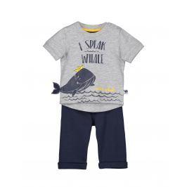 Blue Seven Chlapčenský dvojkomplet s veľrybou - modro-šedý
