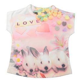 Dirkje Dievčenské tričko so zajačikmi - farebná
