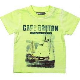 Dirkje Chlapčenské tričko s plachetnicou - neónovo žlté
