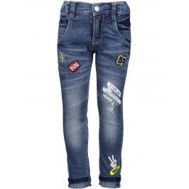 Blue Seven Chlapčenské džínsy s nášivkami - modré