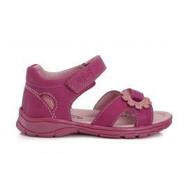 Ponte 20 Dievčenské sandále s kvetinkou - ružové