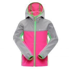 ALPINE PRO Dievčenská bunda Nootka 3 - ružovo-šedá