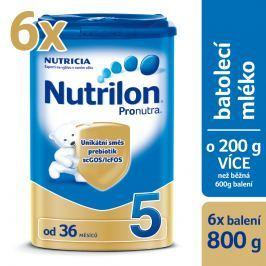 Nutrilon dojčenské mlieko 5 Pronutra 6x800g