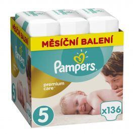 Pampers Premium Care 5 Mesačné balenie, 136ks