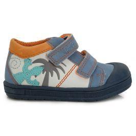 Ponte 20 Chlapčenské kožené topánky s jaštericou - farebné