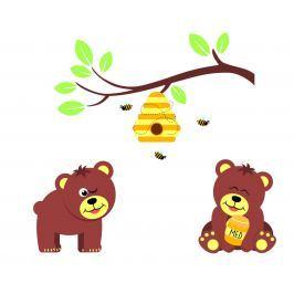 Housedecor Samolepka na stenu Lesné zvieratká