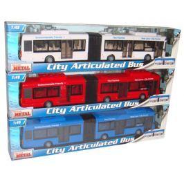 Mac Toys 1:48 Autobus kĺbový - biely