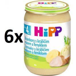 HiPP Zemiaky s králičím mäsom a feniklom 6x190g