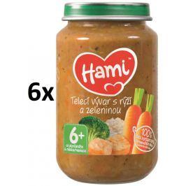 Hami Príkrm teľacie vývar s ryžou a zeleninou, 6x200g