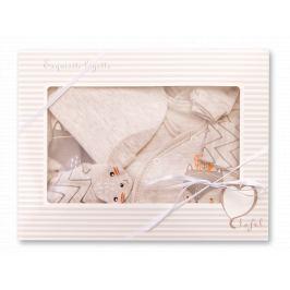 Lafel Chlapčenský dojčenský komplet Funny Fox - béžový