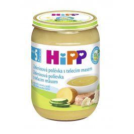 HiPP BIO Zeleninová polievka s teľacím mäsom 6x190g