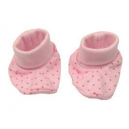 Nini Dievčenské bodkované capáčky - ružové