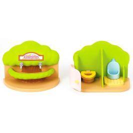 Sylvanian Families Prenosná toaleta a umývárka pre škôlky