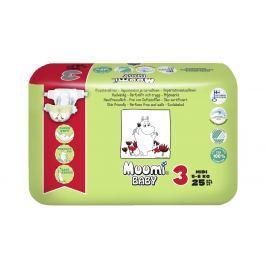 Muumi Baby detské jednorazové plienky 25ks, MIDI 5-8kg
