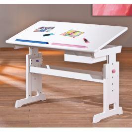 Halmar Detský rastúci stôl - biely