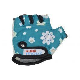 Kiddimoto Cyklistické rukavice Fleur - modrej, veľkosť S