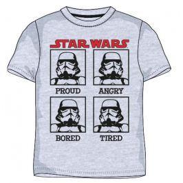 E plus M Chlapčenské tričko Star Wars - šedé