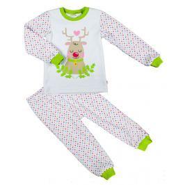 MMDadak Dievčenské bodkované pyžamo - farebné