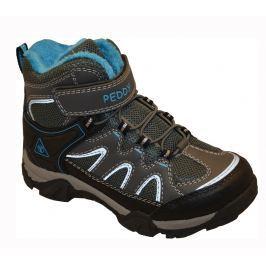Peddy Chlapčenská outdoorová obuv - šedo-modrá