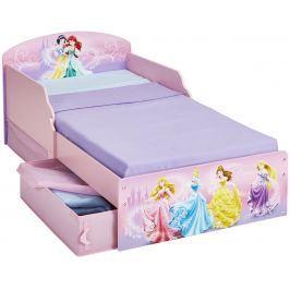 Disney Princess Detská posteľ s úložným priestorom 140x70 cm