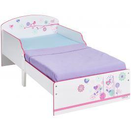 A.W. Detská posteľ Kvetinky 140x70 cm