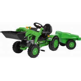 BIG Šliapací traktor Jim s lyžicou a vozíkom