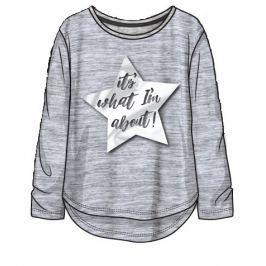 Minoti Dievčenské tričko s hviezdou Redrum - šedé
