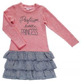 Topo Dievčenské šaty Princess - ružovo-šedé
